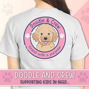 Doodle & Crew by Simply Southern White Logo Tee